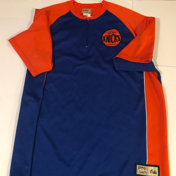 the latest 02baf 1c2a7 Throwback New York Knicks Warm Up Jersey